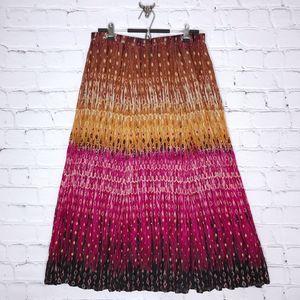 Chico's Lolla Rossa Foil Print Crinkle Maxi Skirt